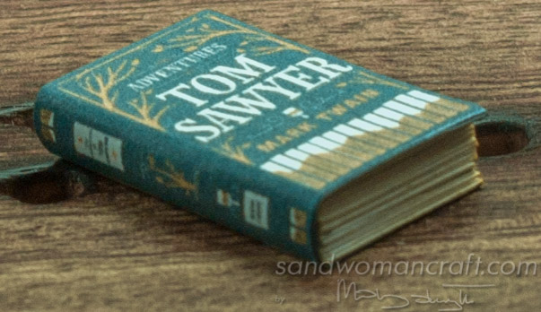 Miniature classical books. Literature 1 inch scale
