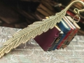 Bookmarks with miniature books