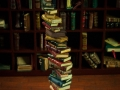 Miniature book stack of 30 leather books