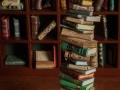 Miniature book stack 1:12 scale 1/12 scale