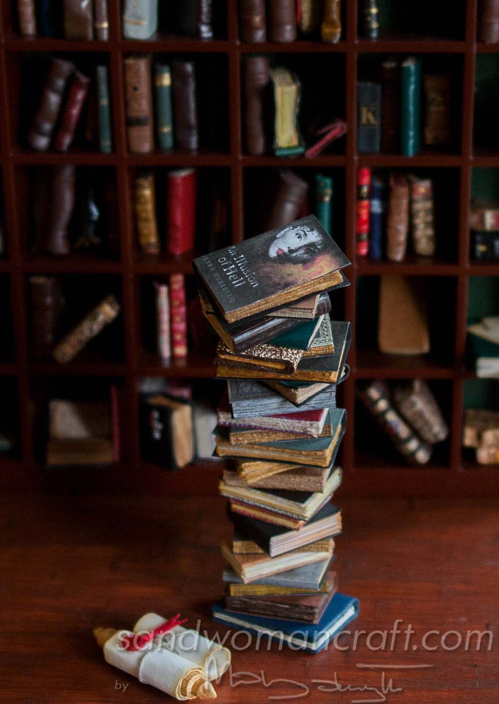 "Miniature book stack ""Illusion Of Hell"""