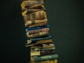 Miniature book stack with Devil's skull