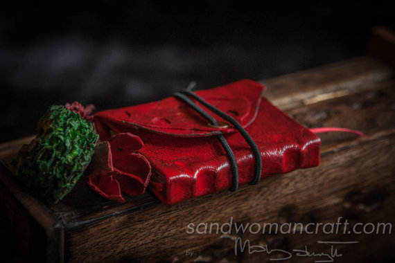 Miniature red journal- bigger version