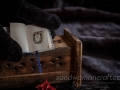 Blue leather miniature steampunk book