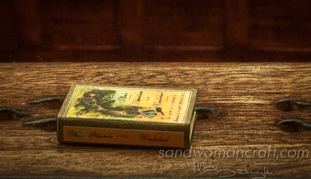 Miniature book Alice in Wonderland 1 inch scale