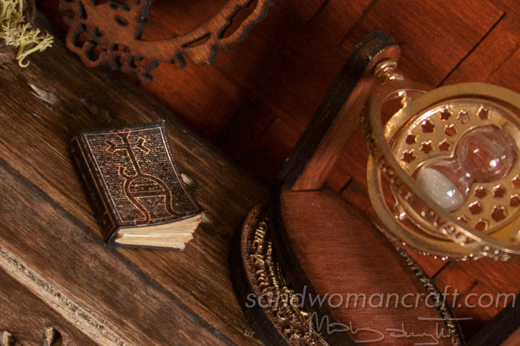 "Miniature book ""Defence Against The Dark Arts"" in 1:12 scale"