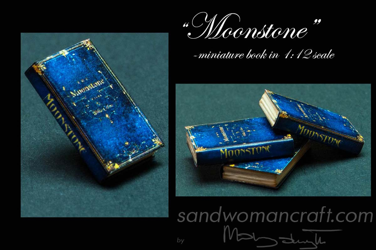 "Dollhouse miniature book ""Moonstone"" in 1:12 scale"