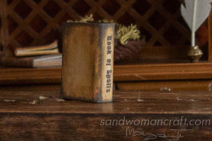 Miniature Book Of Spells in 1:12 scale