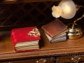 Miniature leather book