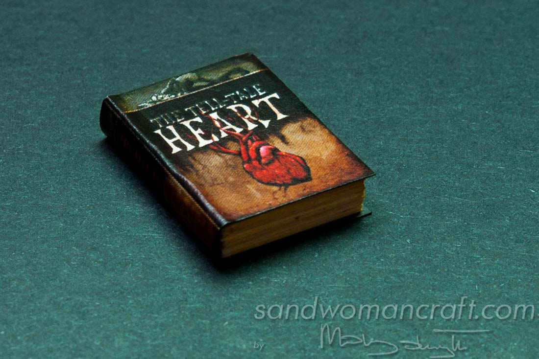 "Miniature book of Edgar Allan Poe ""Tell Tale Heart"""