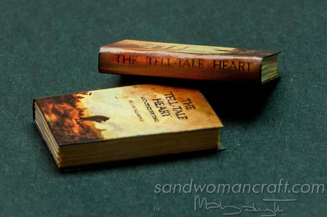 "Miniature book ""Tell Tale Heart"" of Edgar Allan Poe"