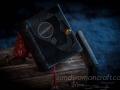 Dark brown leather miniature steampunk book