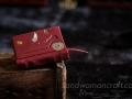 Miniature claret leather steampunk book