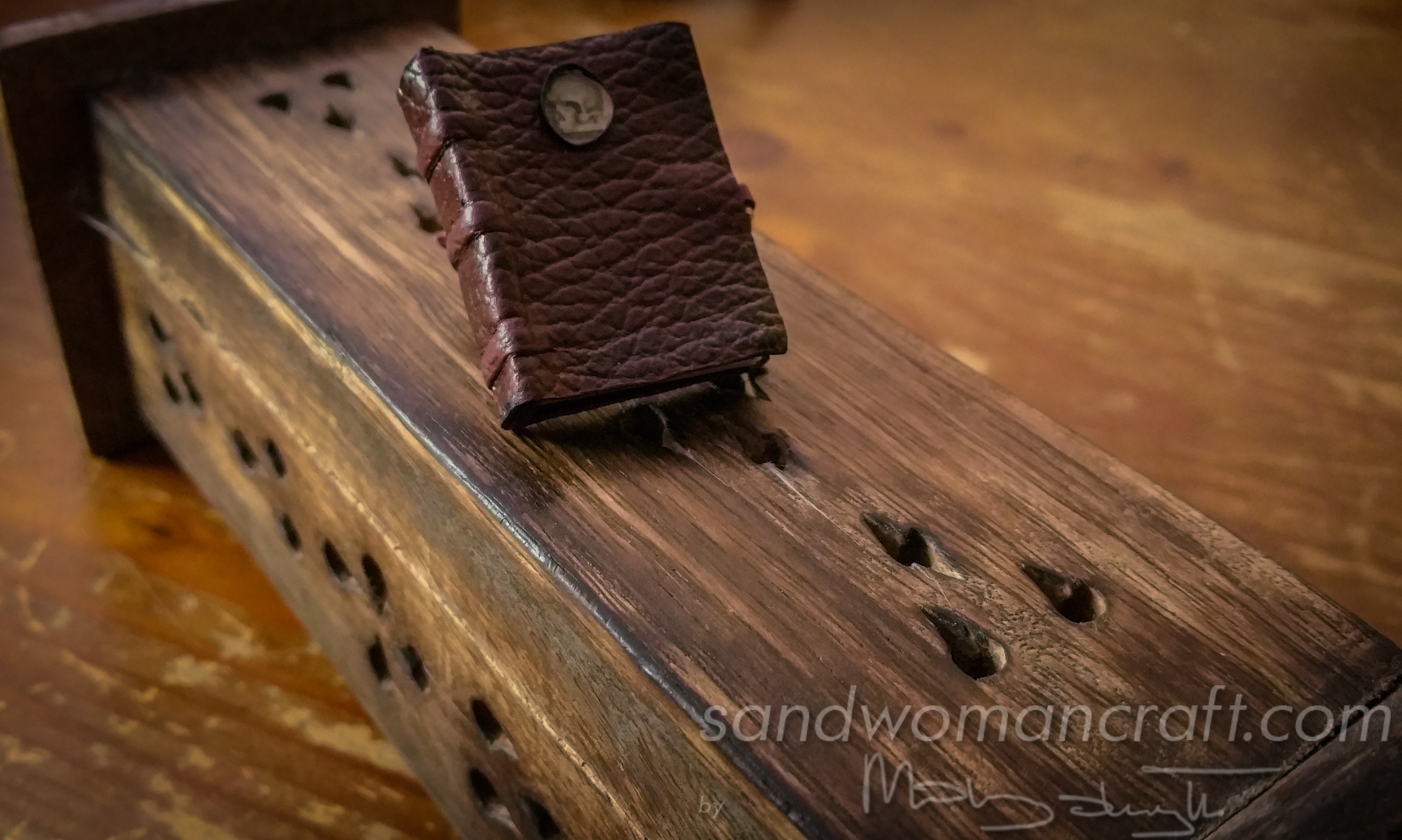 Legible miniature book- medieval style