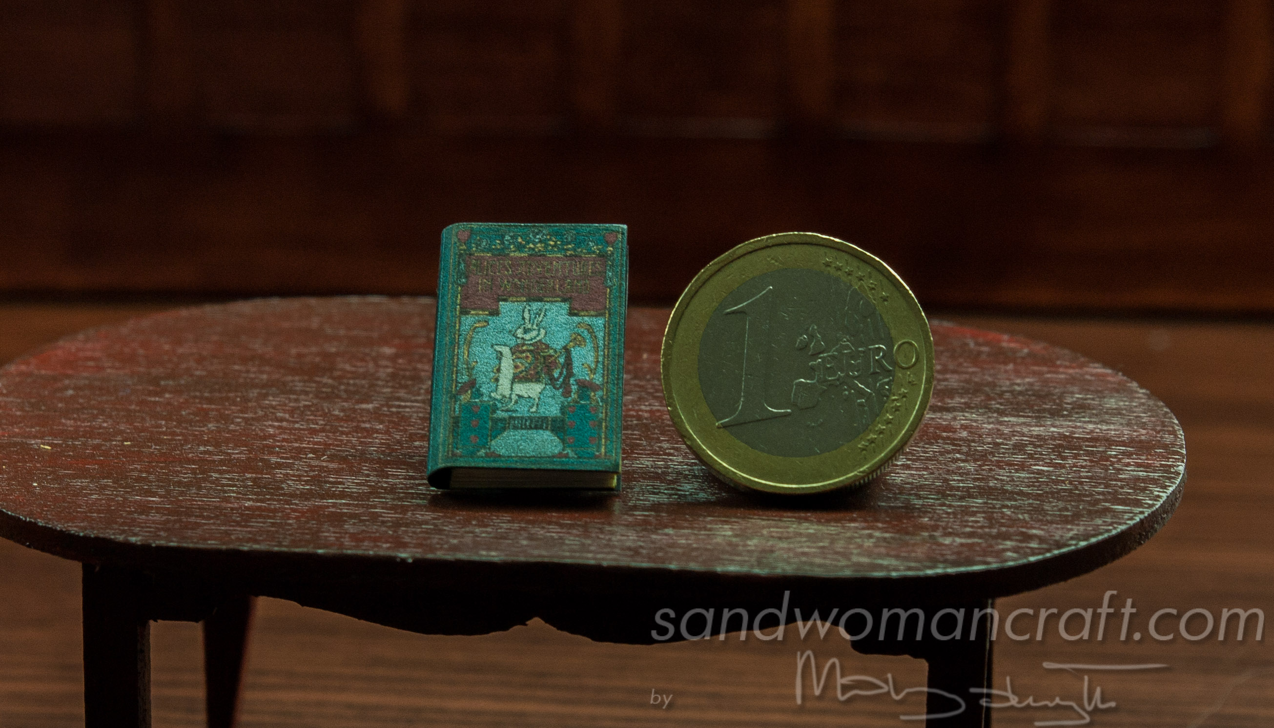 Miniature book Alice in Wonderland 1/12 scale