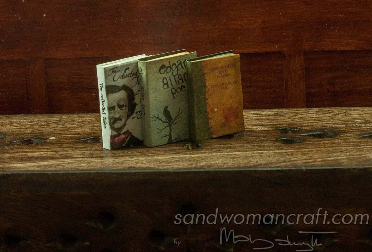 Miniature books. Edgar Allan Poe set
