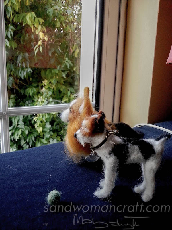 felted corgi and terrier