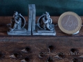 Miniature bookends with Gargoyle in 1:12 scale
