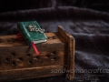 Green leather witch book
