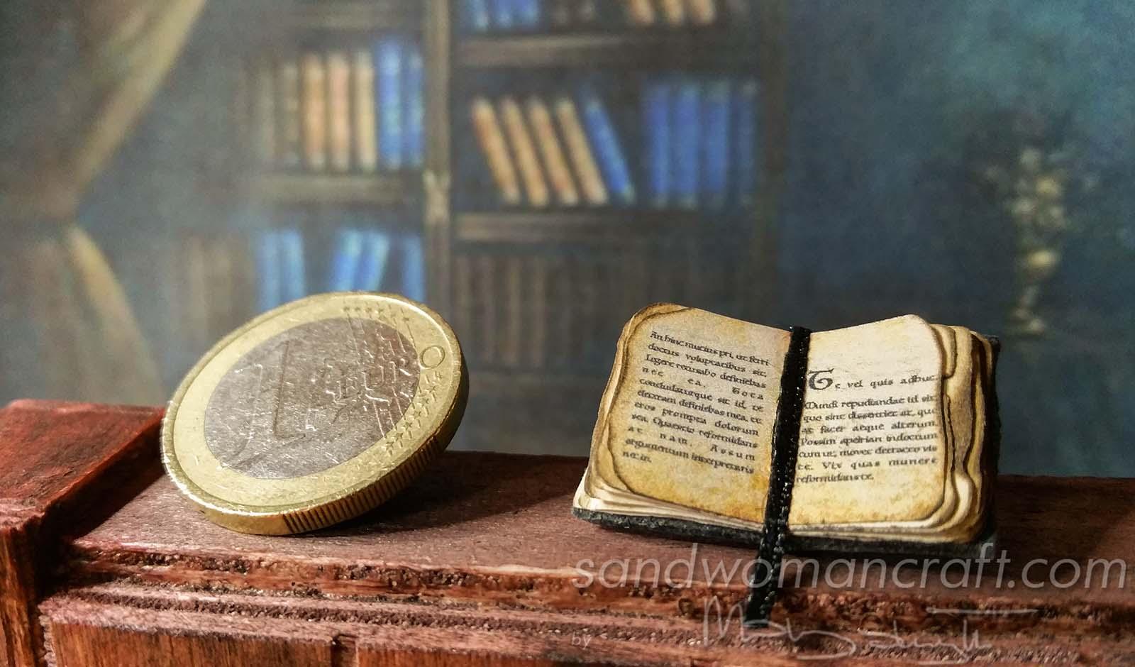 Miniature tiny book. Plain text.