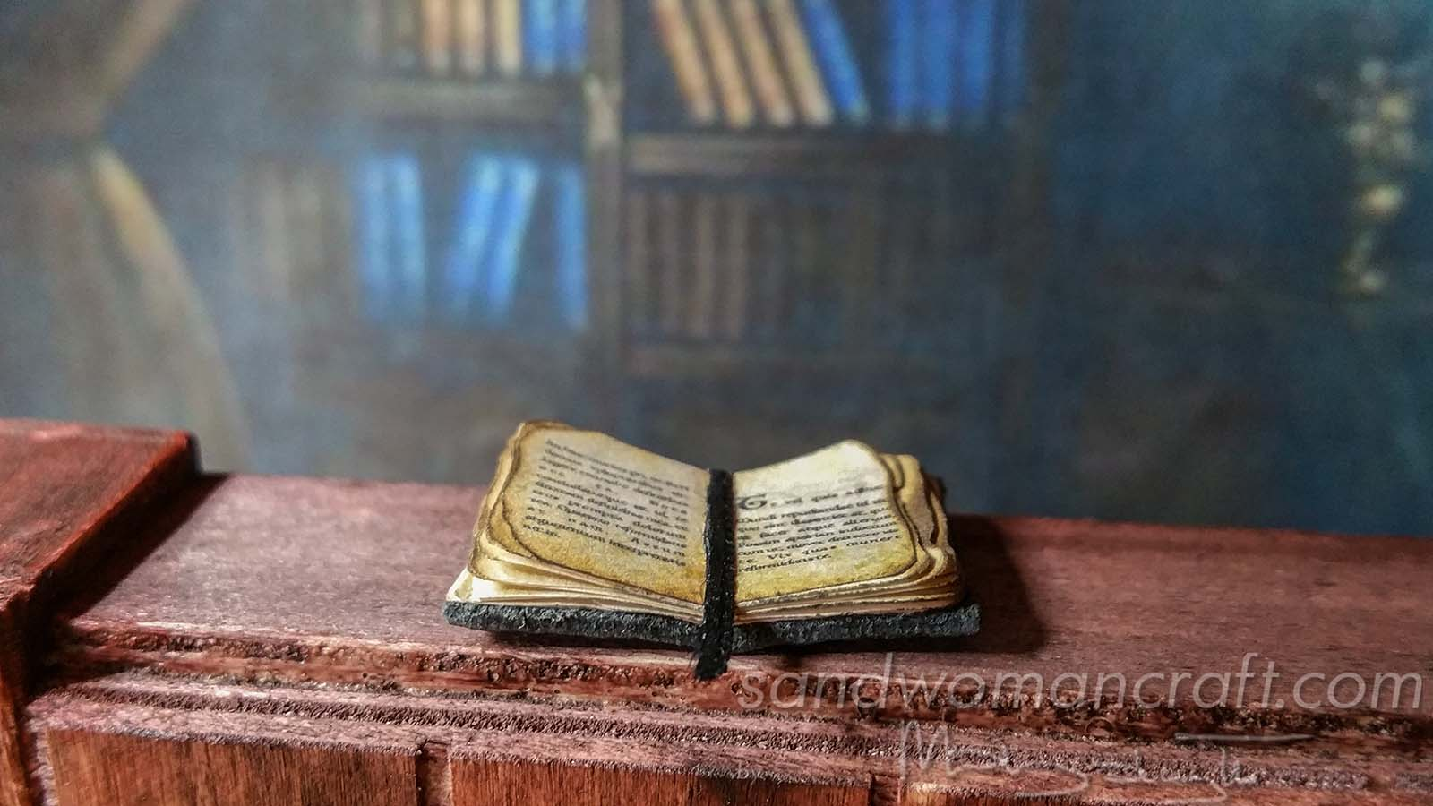 Miniature tiny book. Plain text.