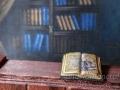 Miniature tiny book with skull.