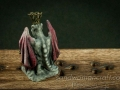 Miniature Gargoyle figurine with red wings