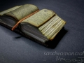 Miniature open thick book