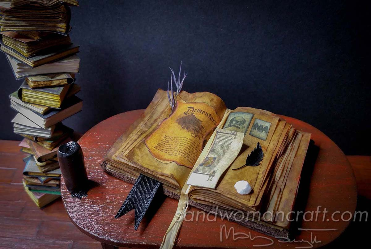Miniature open book