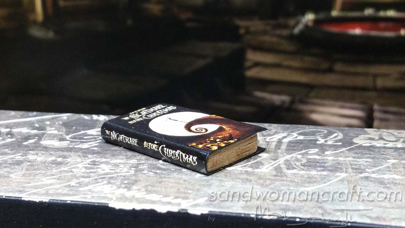 Miniature book Nightmare Before Christmas in 1:12 scale