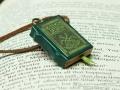 Miniature book necklace