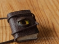 Miniature book necklace with glass Dragon's Eye