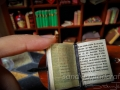 Open miniature book- medieval