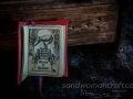 """Dark arts"" miniature leather book"