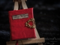 """Sleepy hollow"" red faux leather"