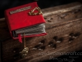 """""""Sleepy hollow"""" red faux leather"""