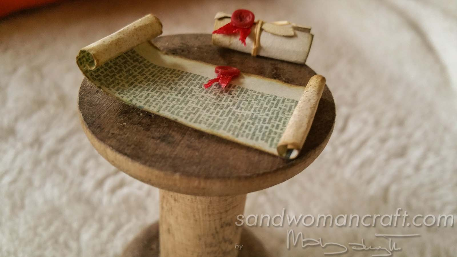 Miniature scroll with seal wax