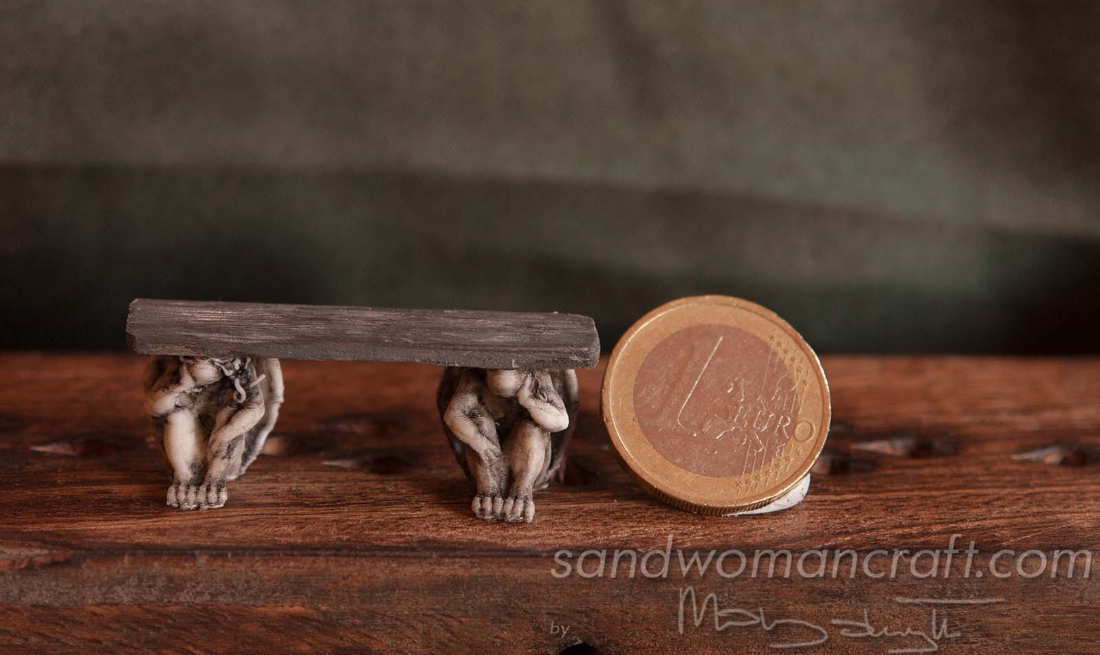 Miniature shelf with Gargoyles