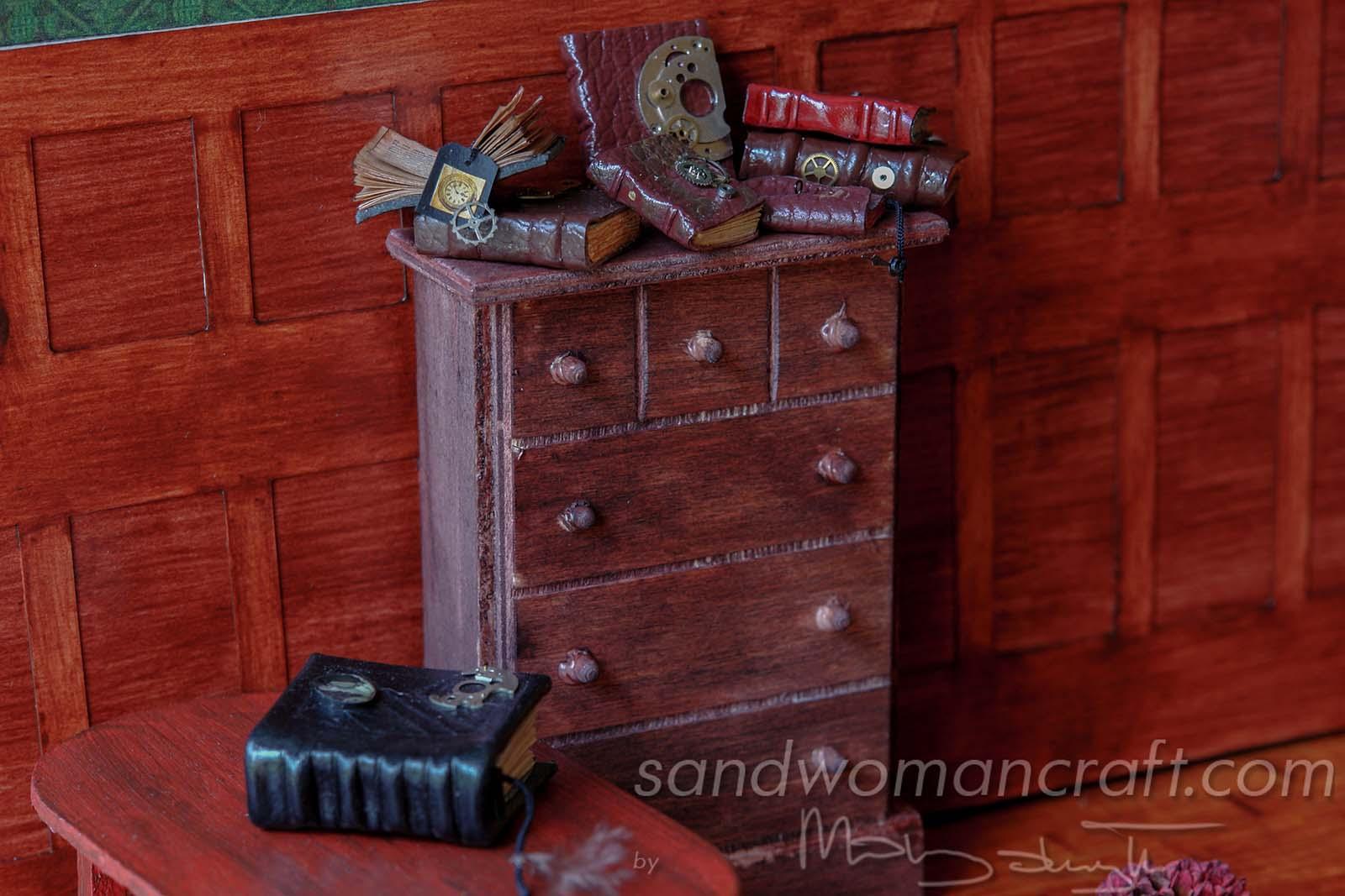 Miniature Steampunk Books