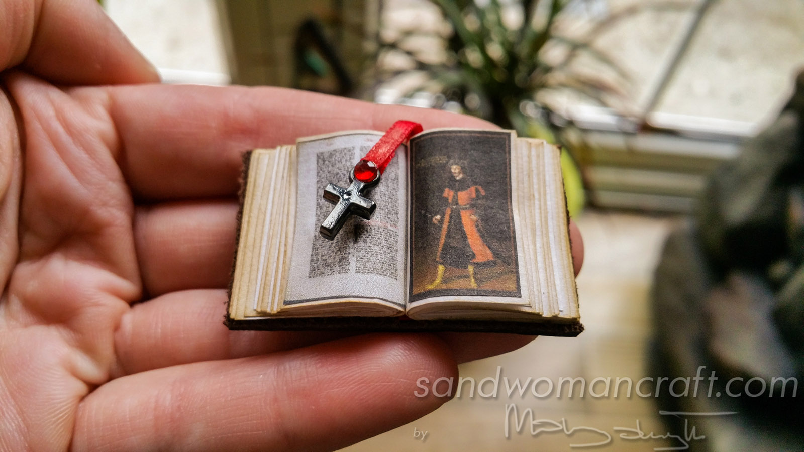 Miniature leather book Vlad Dracula