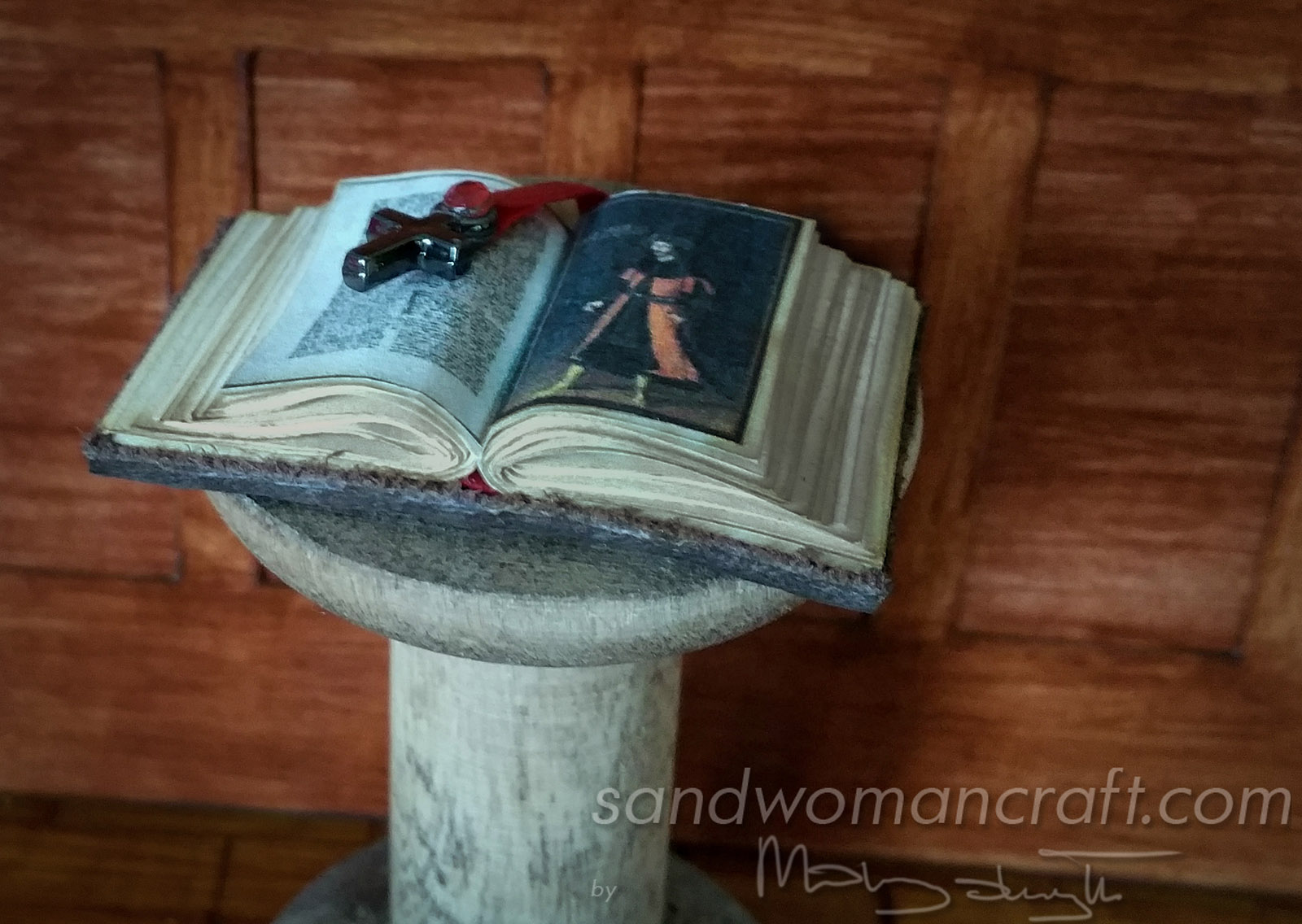 Miniature leather book Vlad Dracula