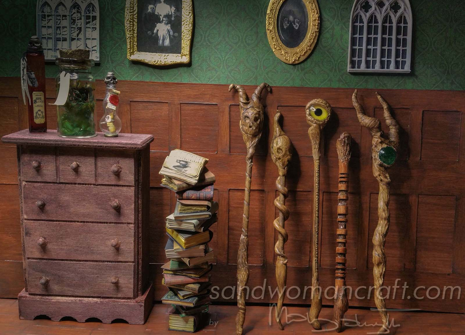 Miniature Magic Wands And Wizard S Walking Sticks