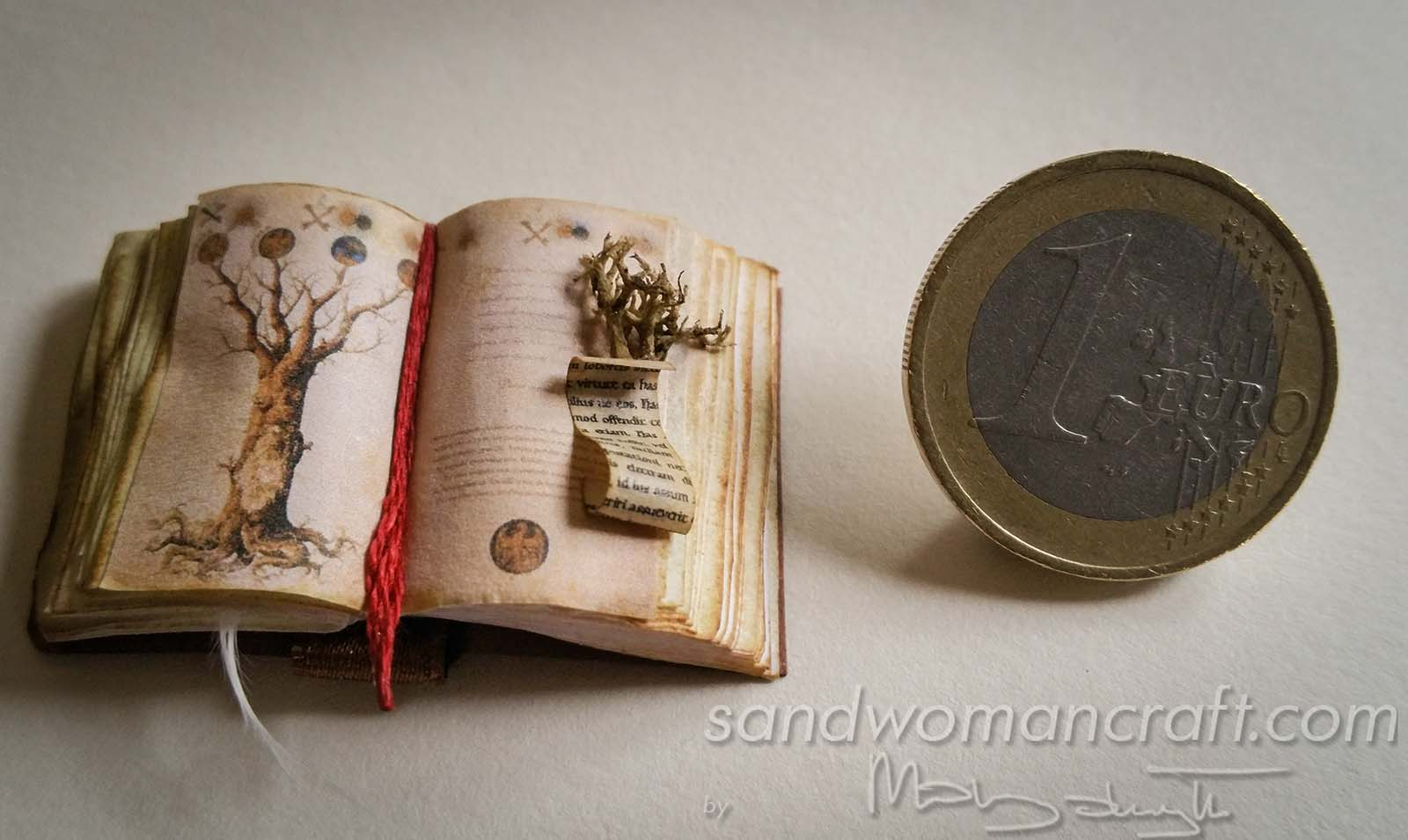 Miniature open book Tree of life 1:12 scale