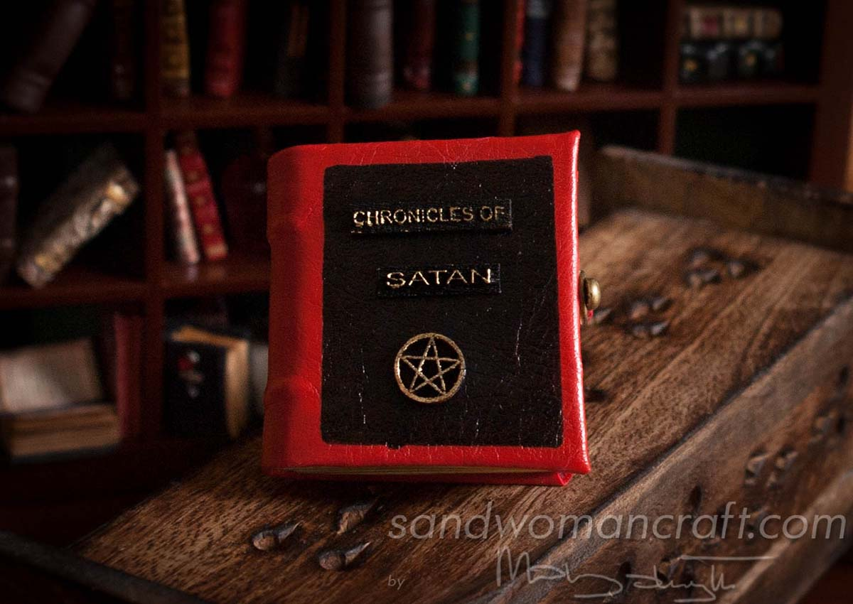Miniature leather book Chronicles Of Satan