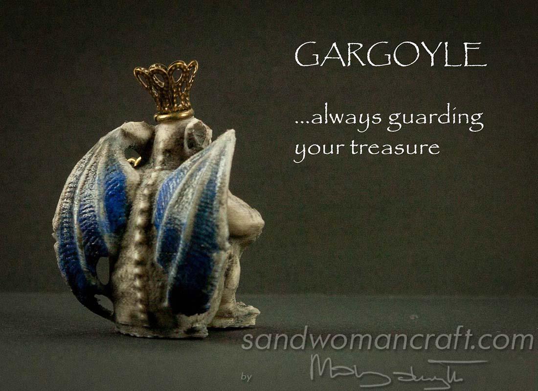Miniature Gargoyle figurine
