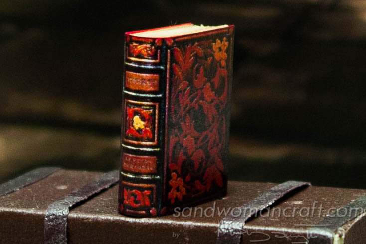 Miniature book floral ornamentation