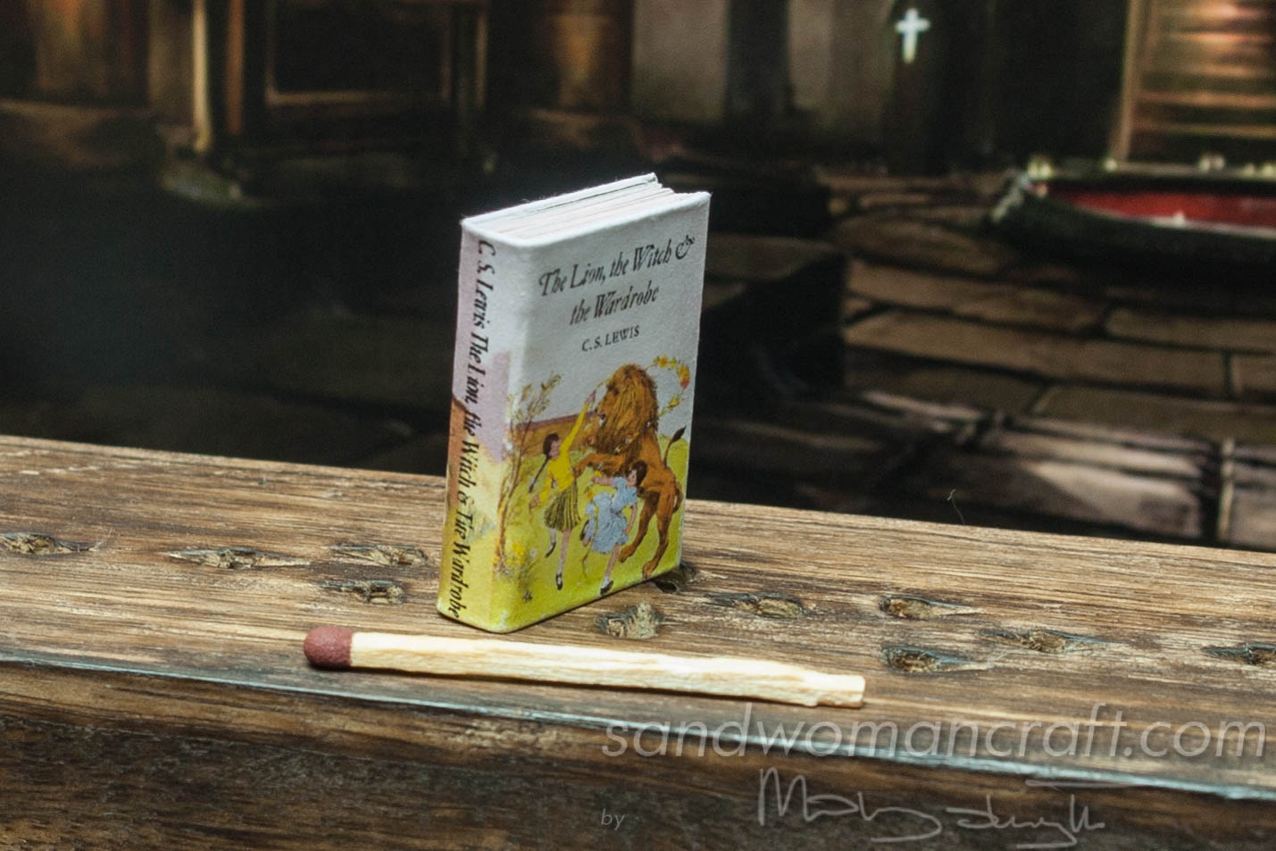 "Miniature book ""The Lion, The Witch and the Wardrobe"" by C.S. Lewis"
