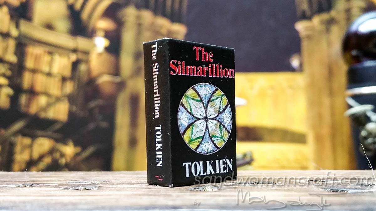 "Miniature book ""The Silmarillion"" of Tolkien in 1:12 scale- my recent custom order."