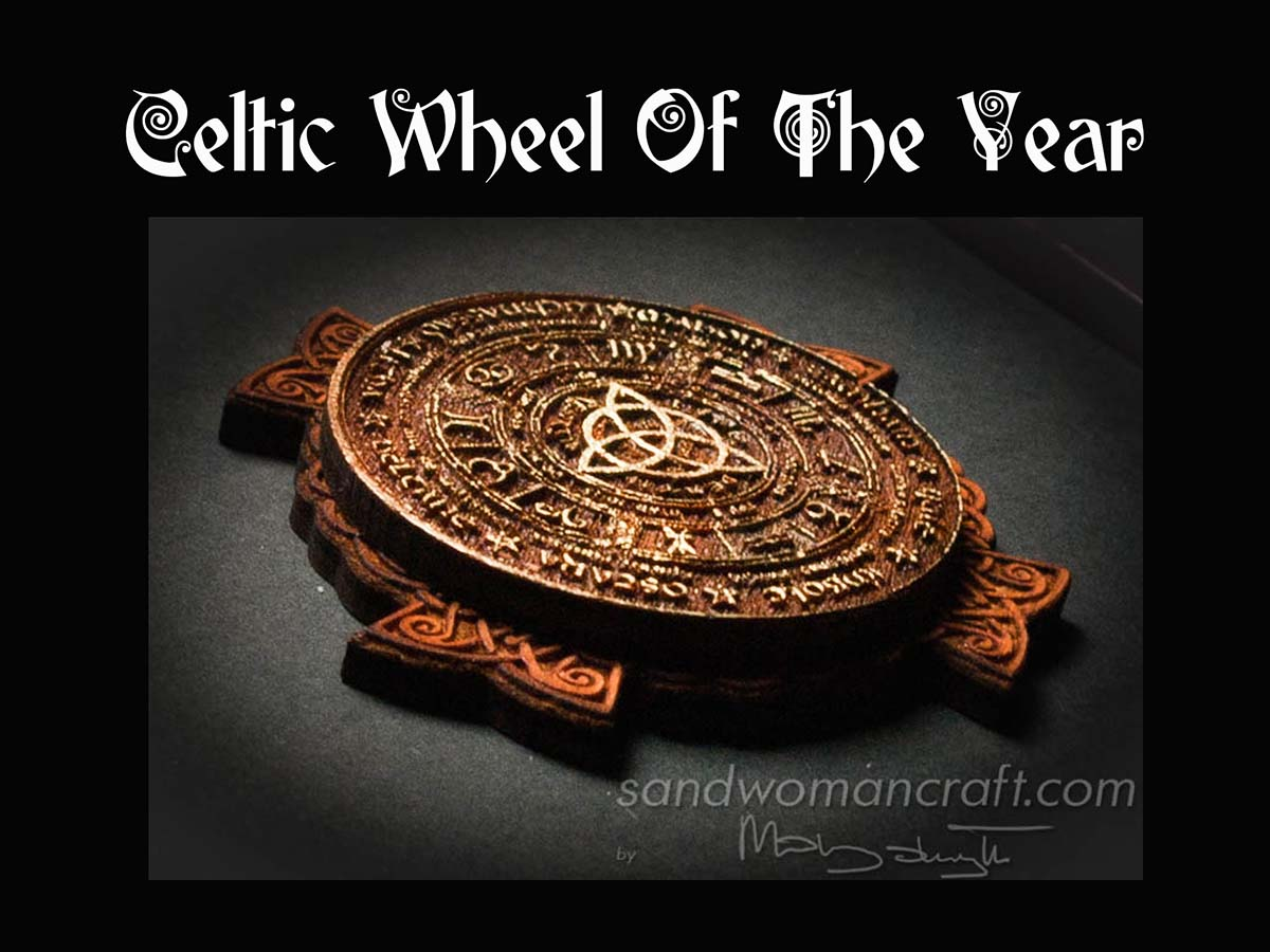 Brown Miniature Celtic Wheel Of The Year