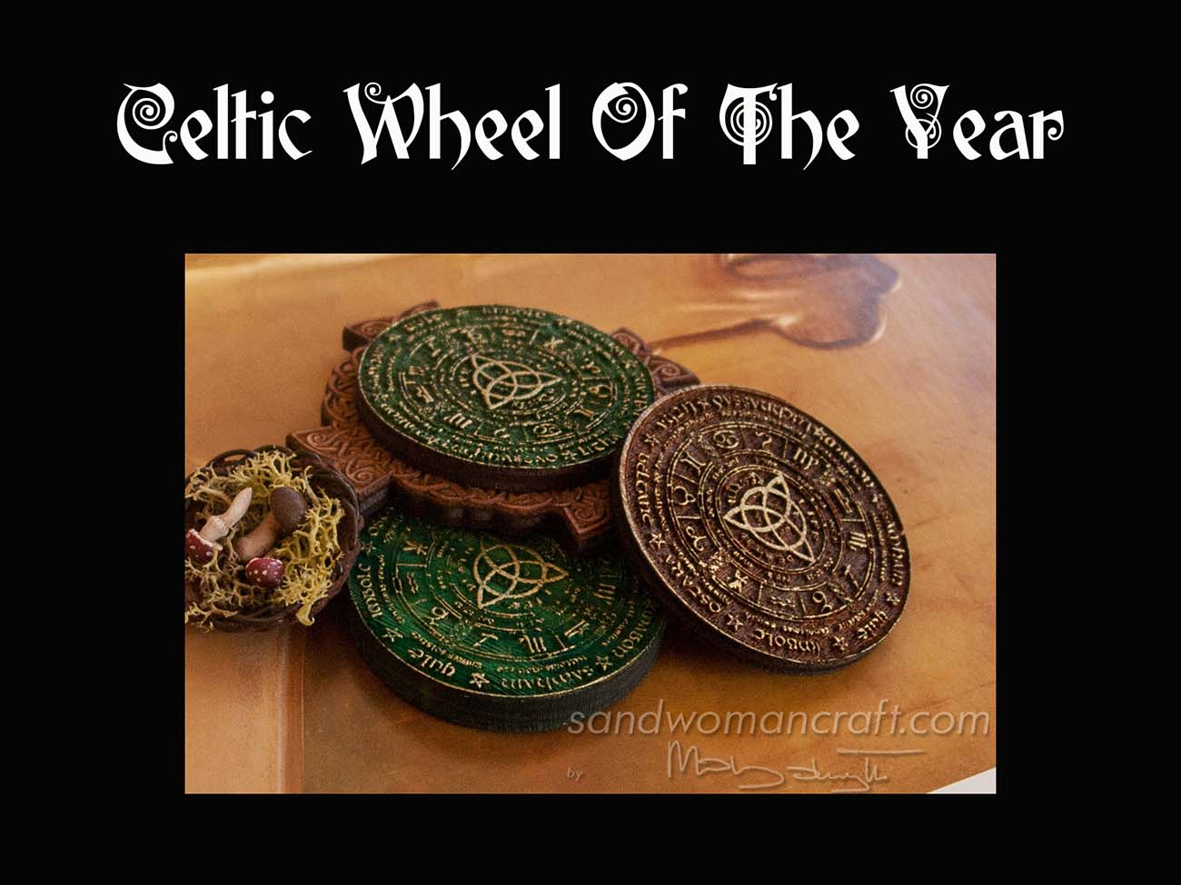 Miniature Celtic Wheel of The Year
